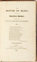 Books:Literature Pre-1900, [John Gwilliam]. The Bower of Bliss; with other Amatory Poems;Including the Loves of Abelard and Heloise. London: E...