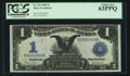 Large Size:Silver Certificates, Solid Serial Number V99999999V Fr. 233 $1 1899 Silver CertificatePCGS Choice New 63PPQ.. ...