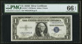 Small Size:Silver Certificates, Fr. 1611* $1 1935B Silver Certificate. PMG Gem Uncirculated 66 EPQ.. ...