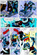 Original Comic Art:Miscellaneous, Daredevil #160 Page 3 Hand-Painted Color Guide (Marvel,1979)....