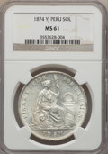 Peru:South Peru, Peru: Republic Sol 1874-YJ MS61 NGC,...