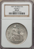 Peru:South Peru, Peru: Republic Sol 1869-YB MS62 NGC,...
