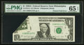 Error Notes:Foldovers, Fr. 1915-C $1 1988A Federal Reserve Note. PMG Gem Uncirculated 65EPQ.. ...