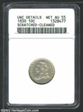 Bust Dimes: , 1830 10C Medium 10C--Scratched, Cleaned--ANACS. Unc Details,...