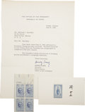 Autographs:Non-American, Chiang Kai-shek and Madame Chiang Signature Lot. ... (Total: 2Items)