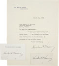 "Autographs:U.S. Presidents, Herbert Hoover Typed Letter Signed As President, one page, 8vo (7""x 9""), on White House letterhead, Washington, D.C., March...(Total: 1 Item)"