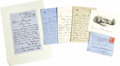 """Autographs:U.S. Presidents, First Lady Frances Cleveland Archive. Includes: . Signed WhiteHouse engraving, 4.75"""" x 3.75"""", mounting traces on verso,...(Total: 4 Items)"""