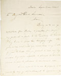 """Autographs:Military Figures, War of 1812 General Jacob Brown ALS, """"Jac Brown"""", two pages, 8"""" x 10"""", September 6, 1808, Boston, Massachusetts, to Brig..."""