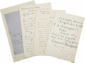 Autographs:Statesmen, Archive of Signatures, Autograph Quotes and Letters from Members ofPresident Ulysses S. Grant's Cabinet. ... (Total: 7 Items)