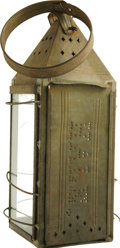 """Political:3D & Other Display (pre-1896), """"Free-Soil"""" Presidential Candidate John Hale: An Extremely Rare and Important Pierced Tin Lantern from the 1852 Election...."""