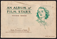 """An Album of Film Stars, Second Series (John Player & Sons, 1934). Cigarette Card Album (20 Pages, 5"""" X 7.25&quo..."""