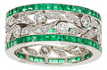 Estate Jewelry:Rings, Diamond, Emerald, Platinum Ring, Cicada. ...