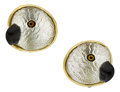 Estate Jewelry:Earrings, Moonstone, Black Onyx, Gold Earrings, Diane Griswold Johnston . ...