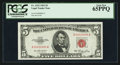 Small Size:Legal Tender Notes, Low Serial Number A00000095A Fr. 1532 $5 1953 Legal Tender Note. PCGS Gem New 65PPQ.. ...