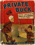 Books:Art & Architecture, [World War II]. [Cartoons]. Clyde Lewis. Private Buck. Chicago: Rand McNally & Company, [n.d., circa 1943]. Firs...