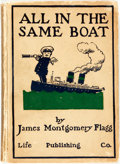 Books:Art & Architecture, [Caricature]. [Cartoons]. James Montgomery Flagg. All in the Same Boat. New York: Life Publishing Company, 1908....