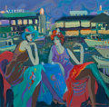Fine Art - Painting, European:Contemporary   (1950 to present)  , Isaac Maimon (Israeli, b. 1951). Two Women. Oil on canvas.29-1/2 x 30 inches (74.9 x 76.2 cm). Signed lower right:Ma...