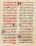 Works on Paper, Continental and British School (13th -15th Century). Manuscript Leaves (four works). Ink and gold leaf on paper, each. 7... (Total: 4 Items)