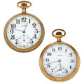 Timepieces:Pocket (post 1900), Two Illinois Open Face Pocket Watches Runners. ... (Total: 2 Items)