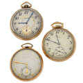 Timepieces:Pocket (post 1900), Three 12 Size Open Face Pocket Watches. ... (Total: 3 Items)