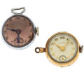 Timepieces:Pendant , Two Crystal Ball Pendant Watches. ... (Total: 2 Items)