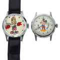 Timepieces:Wristwatch, Mickey Mouse & Spiro Agnew Wristwatches. ... (Total: 2 Items)