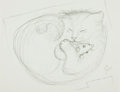 Books:Original Art, [Original Art]. Garth Williams. Original SIGNED Drawing for Children's Book The Kitten Who Thought He Was a Mouse....