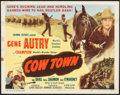 """Movie Posters:Western, Cow Town (Columbia, 1950). Half Sheet (22"""" X 28"""") Style A & Uncut Pressbook (8 Pages, 12"""" X 16""""). Western.. ... (Total: 2 Items)"""