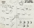 animation art:Model Sheet, Pluto Model Sheet (Walt Disney, 1940)....