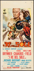 "Movie Posters:Adventure, Kings of the Sun (United Artists, 1963). Italian Locandina (13"" X27.5""). Adventure.. ..."