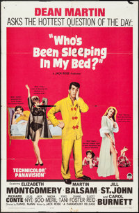 """Who's Been Sleeping in My Bed? & Others Lot (Paramount, 1963). One Sheets (3) (27"""" X 41""""). Comedy. ... (To..."""