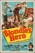 """Movie Posters:Comedy, Blondie's Hero (Columbia, 1950). One Sheet (27"""" X 41""""). Comedy.. ..."""