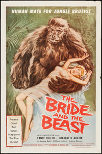 """The Bride and the Beast (Allied Artists, 1958). One Sheet (27"""" X 41""""). Horror"""