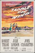 "Movie Posters:Western, Saddle the Wind (MGM, 1958). One Sheet (27"" X 41""). Western.. ..."