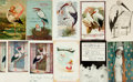 Miscellaneous:Postcards, [Postcards]. Group of Eleven Birth Announcement Postcards, MostFeaturing Storks. Various publishers, circa 1905 - 1916. ...