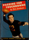 """Football Collectibles:Publications, Sid Luckman Signed Hardcover """"Passing for Touchdowns"""" Book...."""