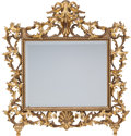 Decorative Arts, Continental:Other , A Baroque-style Carved Gilt Wood Mirror, circa 1860. 30-1/2 incheshigh x 29-1/2 inches wide (77.5 x 74.9 cm). ...