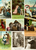 Miscellaneous:Postcards, [Postcards]. [World War I]. Group of Nine Humorous World War OneEra Postcards. Various publishers, circa 1909 - 1919. ...