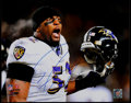 Football Collectibles:Photos, Ray Lewis Signed Oversized Photograph....