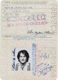 Movie/TV Memorabilia:Autographs and Signed Items, A Robin Williams Twice-Signed Passport, 1979.. ...