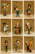Miscellaneous:Trading Cards, [Trade Cards]. [Advertising]. Collection of Nine Trade Cards forthe Emerson Piano Co. Boston: [n.d., circa 19th-Century]. ...