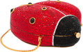 "Luxury Accessories:Bags, Judith Leiber Full Bead Red & Black Crystal Ladybug MinaudiereEvening Bag. Excellent Condition. 5"" Width x 4"" Height..."