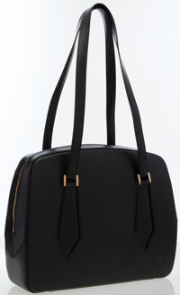 """Louis Vuitton Black Epi Leather Pont Neuf Bag Very Good to Excellent Condition 12.5"""" Width x 9"""" H"""
