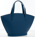 "Art Glass:Daum, Louis Vuitton Blue Epi Leather St. Jacques PM Tote Bag. VeryGood Condition. 13.5"" Width x 9"" Height x 4"" Depth, 5""Ha..."