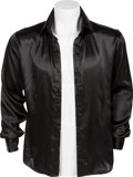 Music Memorabilia:Costumes, Mötley Crüe -- A Tommy Lee Black Satin Shirt (Circa 1989)....