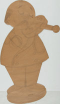 Books:Original Art, [Original Art]. Garth Williams. SIGNED Cut-Out Pencil DrawingDepicting Wooden Toy. Undated. ...