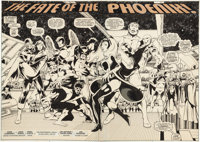 John Byrne and Terry Austin X-Men #137 Double Splash Pages 2-3 Original Art (Marvel, 1980).... (Total: 2 Original Art)