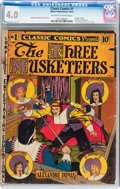 Golden Age (1938-1955):Classics Illustrated, Classic Comics #1 The Three Musketeers - Original Edition(Gilberton, 1941) CGC VG 4.0 Off-white to white pages....