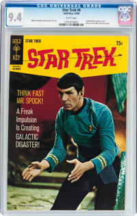 Star Trek #6 (Gold Key, 1969) CGC NM 9.4 White pages