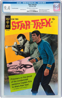 Star Trek #2 -15¢ Price Variant (Gold Key, 1968) CGC NM 9.4 Off-white to white pages